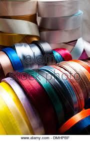 ribbon spools spools of colorful ribbon in a fabric store merida yucatan