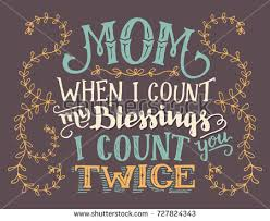 blessings home decor mom when count my blessings count stock vector 727824343