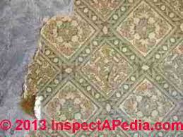 asbestos floor tiles linoleum sheet flooring photo guide to