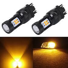 jdm astar 2x 3157 3156 amber yellow 3030 led turn signal drl