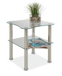 Wohnzimmertisch Quadratisch Glas Beistelltisch Couchtisch Klark 1 Quadratisch Geformt Edelstahl
