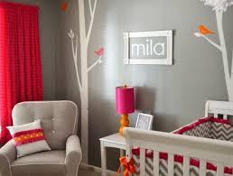 décoration chambre bébé fille et gris chambre enfant déco chambre bébé fille gris blanc orange déco de