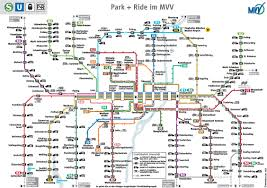 Munich Germany Map by Munich Park And Ride Map