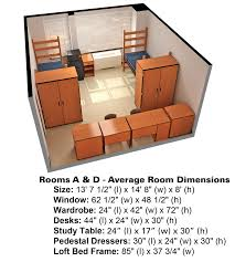 Student Desk Dimensions by Bragaw Hall