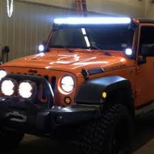 jeep wrangler tj light bar jeep wrangler jk 2007 2016 led light bar with mounting brackets
