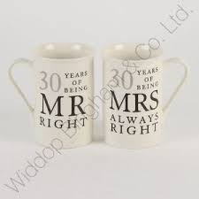 30 wedding anniversary 30th pearl wedding anniversary mugs gift set wg822 5017224699328