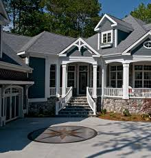 house paint with black roof painting jagged stone wall black