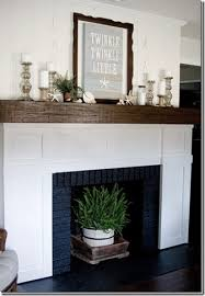 How To Update Brick Fireplace by I Want To Build A Wood Cover For Our Ugly Brick Fireplace Mantle