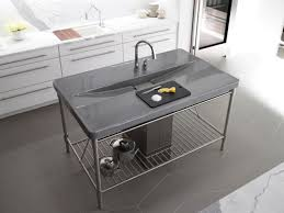 stainless steel countertop with built in sink outdoor stainless steel sink and countertop sink ideas