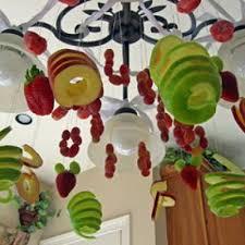 Glass Fruit Chandelier by Fruit Chandelier Edible Decor Tip Junkie