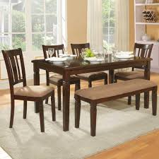 homelegance devlin 6 piece rectangular dining room set in espresso