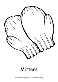 mittens colouring