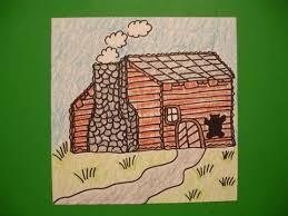 log cabin drawings let s draw a log cabin youtube