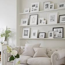 all white picture frame arrangement decor home decor