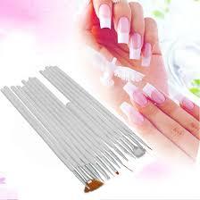 15pcs white nail brush painting pen design tool set nail art uv