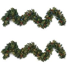 decorating pre lit garland greenery wreath pre lit battery