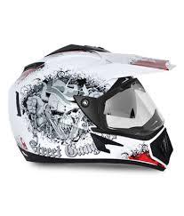 vega motocross helmets vega helmet off road gangster white base with red graphics