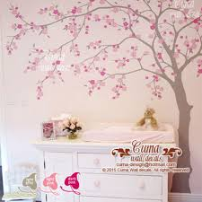 Cherry Blossom Tree Wall Decal For Nursery Baby Wall Decals Nursery Wall Decal From Cuma On Etsy