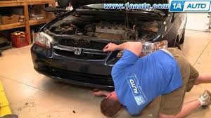 how to install repair replace front bumper cover honda accord 4