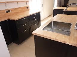 cuisine plan de travail bois charmant plan de travail en inox ikea avec feel du bois cuisine et