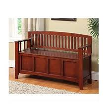 Solid Wood Benches Amazon Com Decorative Storage Bench Solid Wood Seating Benches