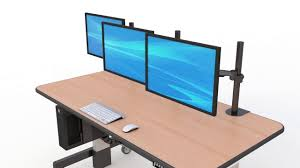 Jesper Sit Stand Desk by Height Adjustable Sit Or Stand Desk With Cpu Holder Youtube
