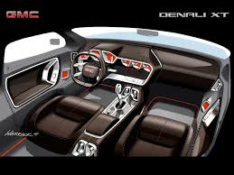 photo gmc denali xt concept interior design