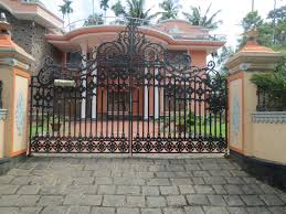 Home Gate Design Catalog Keralahousedesigner Com Design Concepts For Gate And Compound Wall