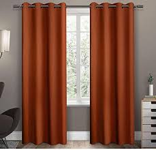 Orange Thermal Curtains 96 Inch Mecca Orange Solid Color Blackout Curtains Panel