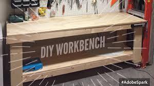 Rolling Work Bench Plans Garage Workbench Buildingch Rolling One Wall Garage Ideas Plans