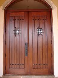 Exterior Wood Doors With Glass Panels by Divine Solid Wooden Entry Door With Twin Leaf Door Combined Lines