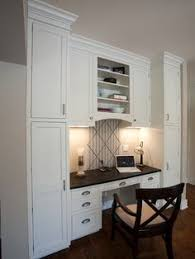 Wall Cabinets For Home Office White Built In For Office Built In Office In The Kitchen