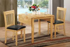 kitchen table round drop leaf granite butterfly 6 seats teak mid