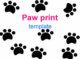 paw print template paw prints template