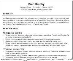 skills resume exles skills in resume exles