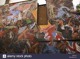 London Wall Murals A Wall Mural In Cable Street London Marking The Battle Between The
