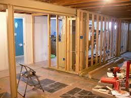 How To Frame A Door Opening Framing A Basement Wall With A Door Modern Rooms Colorful Design