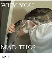 why you mad tho me irl mad meme on me me