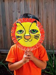 lion mask craft diy paper lion mask handmade