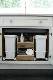 Kitchen Cabinet Trash Trash Cans Garbage Can For Under Kitchen Sink Trash Can For