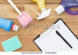 Clean Table Table Top House Cleaning Products Spray Stock Photo 519131233