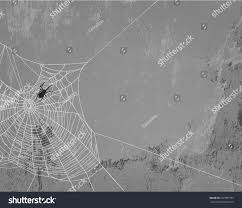 halloween theme background spider web silhouette on concrete wall stock vector 207909733