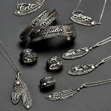 luxury silver necklace images Luxury feather series with name jewellery crafted by necklace jpg
