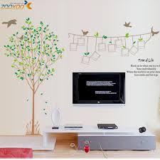 photo frame family tree birds quote removable wall sticker decals