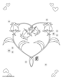 roses heart shape coloring pages hellokids