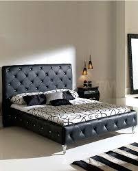 Black Leather Platform Bed Nelly Platform Bed Black Leather 1 500 00 Furniture Store