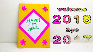 happy new year paper cards how to make happy new year card handmade greeting card for new