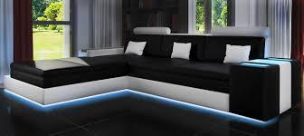 sofa mit led beleuchtung sofas und ledersofas zaragozaiii bettfunktion designersofa ecksofa