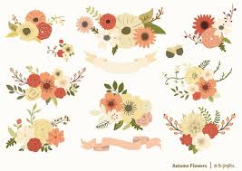 autumn flowers set illustrations creative market