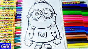 learn colors for kids minions coloring pages for kids fun